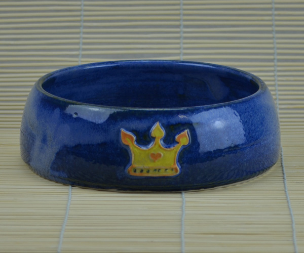 Fressnapf gro mittelblau mit 1 krone keramik barbara englisch - Englisch krone ...