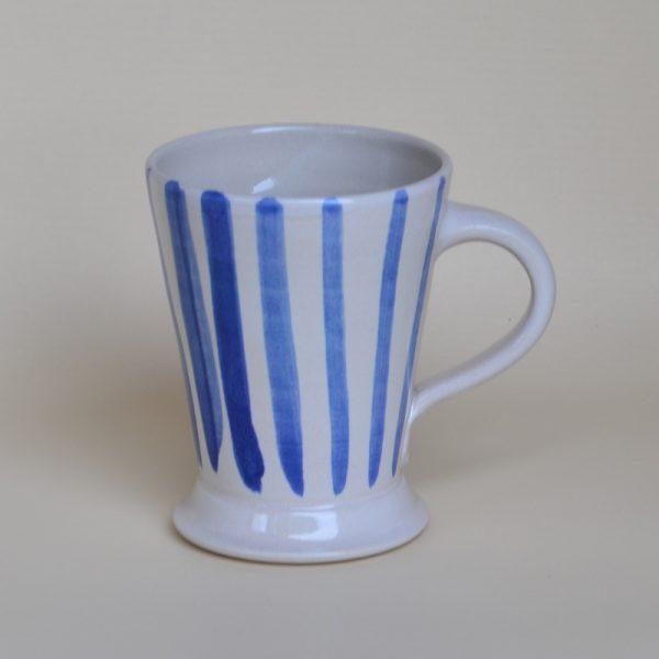 """Kaffeehaferl """"Pyjama"""", weiß-blau"""