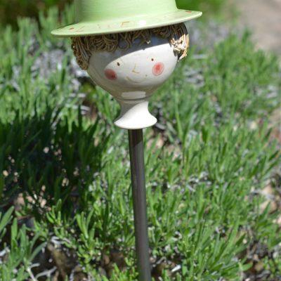 Kräuterzwerg Lavendel, mit grünem Hut