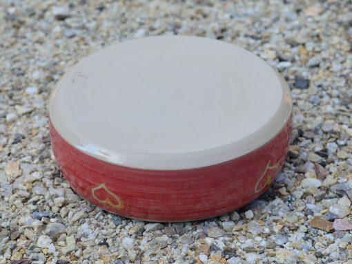 Fressnapf , Ø 15,5 cm, rot mit Herzerl