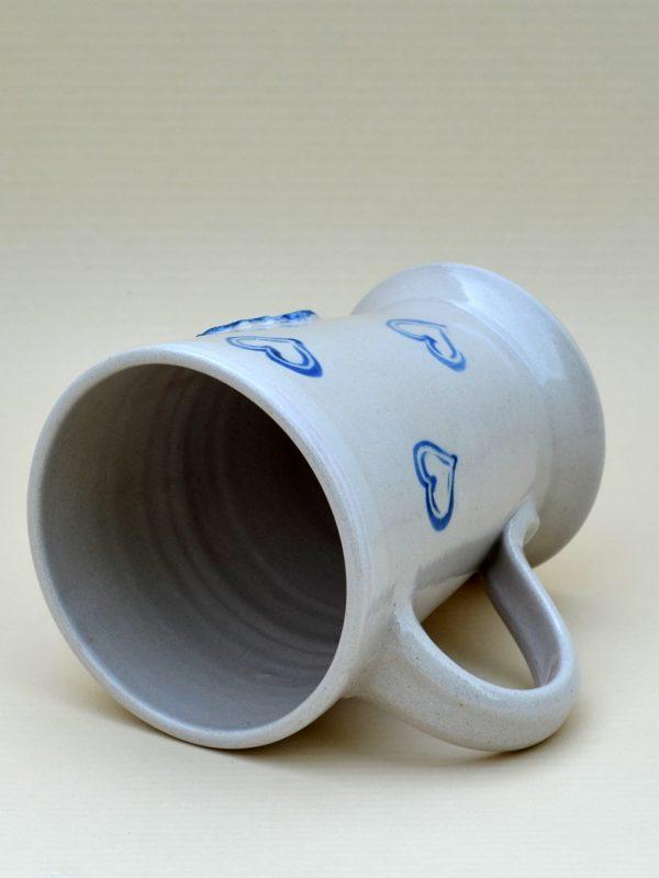 """Kaffeehaferl """"Schecke"""", weiß-blau"""