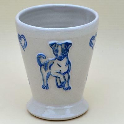 "Kaffeehaferl ""Jack"", weiß-blau"